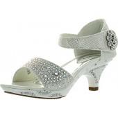 Lucita Jan 14Km Little Girls Rhinestone Heel Platform Dress Sandals