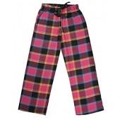 J Ann Junior's 100% Cotton Super Soft Flannel Plaid Pajama/Lounge Pants