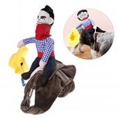 UEETEK Pet Costume Dog Costume Clothes Pet Outfit Suit Cowboy Rider Style