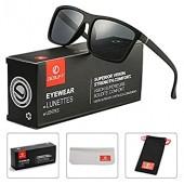 DeBuff 남성용 정사각형 편광 선글라스 스타일리시한 운전용 선글라스 - TAC, UV400