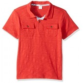 Gymboree Boys Red Slub Polo