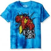 Marvel Big Boys' Iron Man Tie-Dye T-Shirt