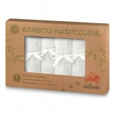 """Premium Bamboo Baby Washcloths  Extra Soft Baby Bath Towels (6-Pack) Size 10""""x 10""""  Natural Reusable Wipes  Perfect Baby Bathing Gift Set"""