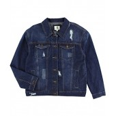BLBD Women's Distressed Boyfriend Denim Jacket