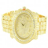 Diamond & Co. Mens 5275470 Ice King Analog Japan Quartz Golden Watch