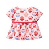 Gymboree Baby Girls' Pink Cupcake Print Sateen Top