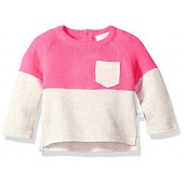 Rosie Pope Baby Girls Mixed Fabrications Pop Over Tee