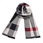 Unisex New Winter Warm Classic Plaid Chunky Scarves Long Soft Lightweight Imitation Pashmina Lattice Wrap Shawls