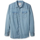 Levi's Men's Big and Tall Standard Denim Western Shirt