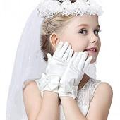 여아용 베일 첫 성찬식 베일 및 장갑 여아용