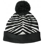Zubaz Men's Knit Winter Stocking Beanie Pom Hat