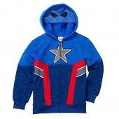 C-Life Marvel Avengers Captain America Little Boys Fleece Zip Up Hoodie