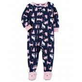 Carter's Big Girls Footed Microfleece Pj's Sleeper Pajamas