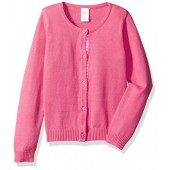 Gymboree Big Girls' Long Sleeve Pinbtn up Cardi Dot Tape