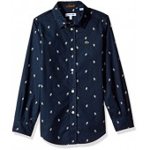 Lacoste Boys' Long Sleeve All Over Space Man Print Shirt