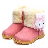 LUUB Adorable Bunny Kid Boots Warm For Children Girls Winter Snow Shoes Fashion(Toddler/Little Kids)