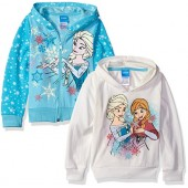 Disney Girls' Frozen Elsa and Anna 2 Pack Hoodies