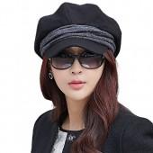 6051ddb02d1 SIGGI Wool newsboy Cabbie Beret Cap For Women Beret Visor Bill Hat
