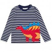 NYCMIRABELLE Baby Boys Sweatshirts Cotton Cartoon Kids Long Sleeves T-Shirt Striped,Size 18M-6T