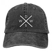 Fashion Why_Don't_Only_We Unisex Vintage Jeans Baseball Hat Adjustable Casquette Cotton Denim Cap Trucker Hat Sun Black