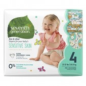 Seventh Generation Free and Clear Sensitive Skin Baby Diapers with Animal Prints