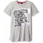GUESS Big Boys' Short Sleeve Fractured Screen Print Tee Shirt