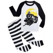MMII pajamas Train Little Boys' 100% Cotton Pajamas Set 2 Piece Sleepwears Pjs