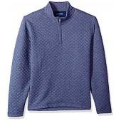 Cole Haan Men's Quilted 1/4 Zip Knit Sweater