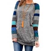 HARHAY Women's Cotton Knitted Long Sleeve Lightweight Tunic Sweatshirt Tops