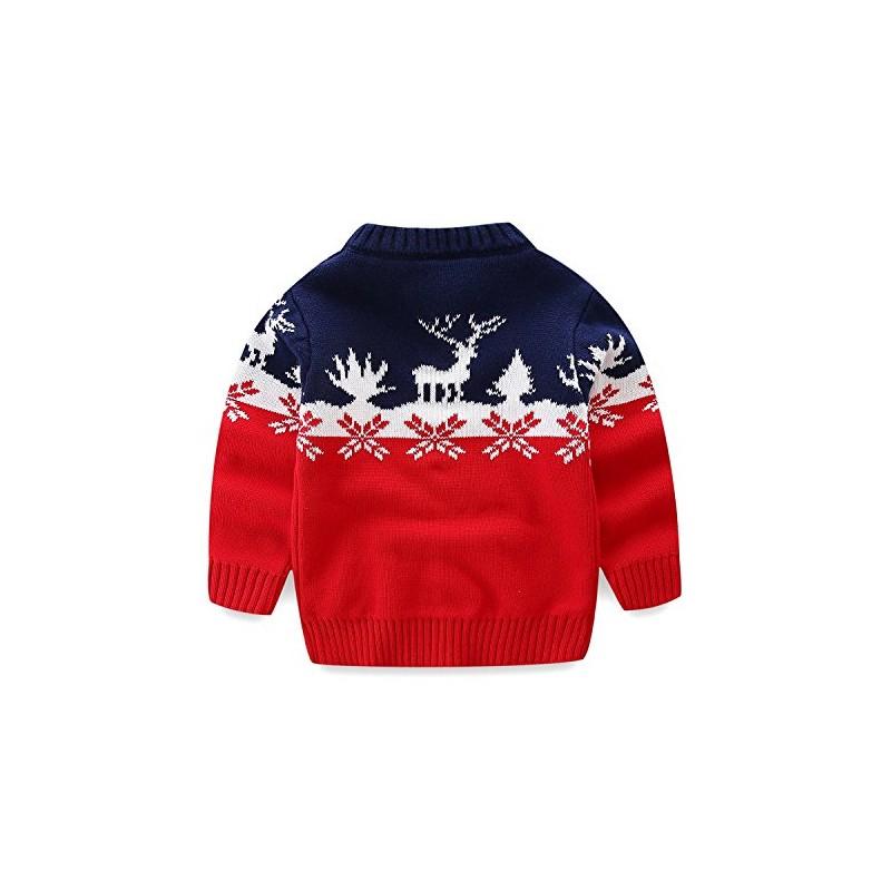 Mud Kingdom Boys Christmas Sweaters Xmas Deer Clothes