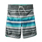 Carter's Big Boys' Striped Trimmed Swim Trunks (5, grey)