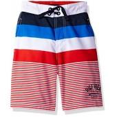 Tommy Hilfiger Boys' Engineered Stripe Boardshort
