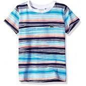 Lacoste Boys' Short Sleeve Irregular Stripe T-Shirt