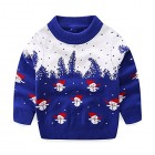 Mud Kingdom Little Boys Blue Christmas Sweaters Snowman