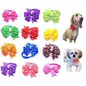 yagopet 10pcs/pack New Small Dog Bow Ties Polka Dots Cat Dog Bowties Collar Festival Dog Ties Dog Grooming Accessories
