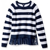 Tommy Hilfiger Big Girls' Rib Pullover