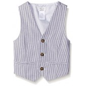 Gymboree Big Boys' Railroad Stripe Woven Vest