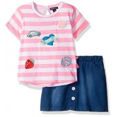 Limited Too Girls' Fashion Top and Skort Set (More Styles Available)