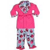 Bunz Kidz - Little Girls 3 Piece Robe and Pajama Set