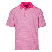 Greg Norman Men's Ml75 Bar Stripe Polo Golf Shirt