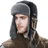 638442019a1 SIGGI Cotton Trapper Hat Faux Fur Earflaps Hunting Hat Warm Pillow Lining  Unisex