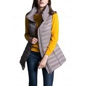 Gooket Women's Mid Long Down Vest Puffer Lightweight Down Jacket Stylish Windbreaker Vest Coat
