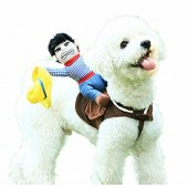Pet Costume Dog Costume Pet Suit Cowboy Rider Style Dog Carrying Costume by DELIFUR
