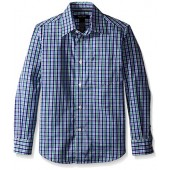 Nautica Boys' Long Sleeve Multi Color Check Shirt
