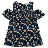 BOBORA Baby Girls Flower Print Cold Shoulder T Shirt Top Blouses