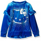 Hello Kitty Girls' Velvet Sweatshirt With Foil Artwork