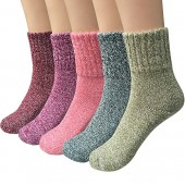 Women Super Thick Winter Socks, Winter Warm Socks, 5 Pairs Warm Casual Socks
