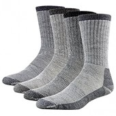 Merino Wool Hiking Socks, RTZAT 4 Pairs Unisex Winter Thermal Camping