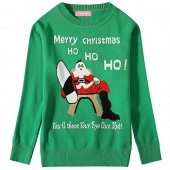Camii Mia Big Girls' Santa Claus Pullover Crewneck Ugly Christmas Sweater