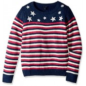 Tommy Hilfiger Big Girls' Stars and Stripes Pullover